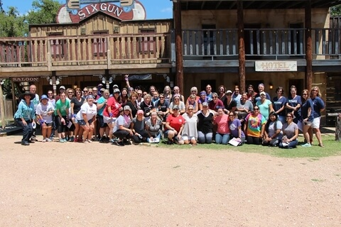 Team building event at Enchanted Springs Ranch