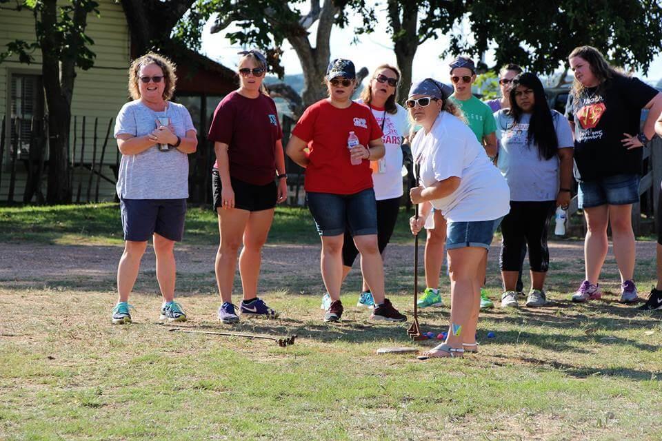 Cowboy Golf Team Building Activity at Enchanted Springs Ranch