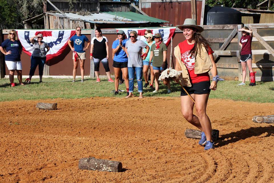 Pony Express Relay Team Building Activity at Enchanted Springs Ranch