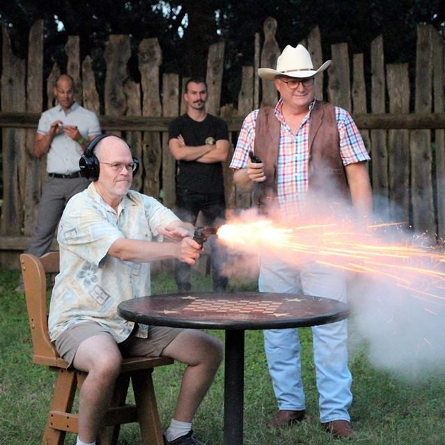 San Antonio Team Building Retreat Corporate Event Venue Enchanted Springs Ranch Six Gun Shooting