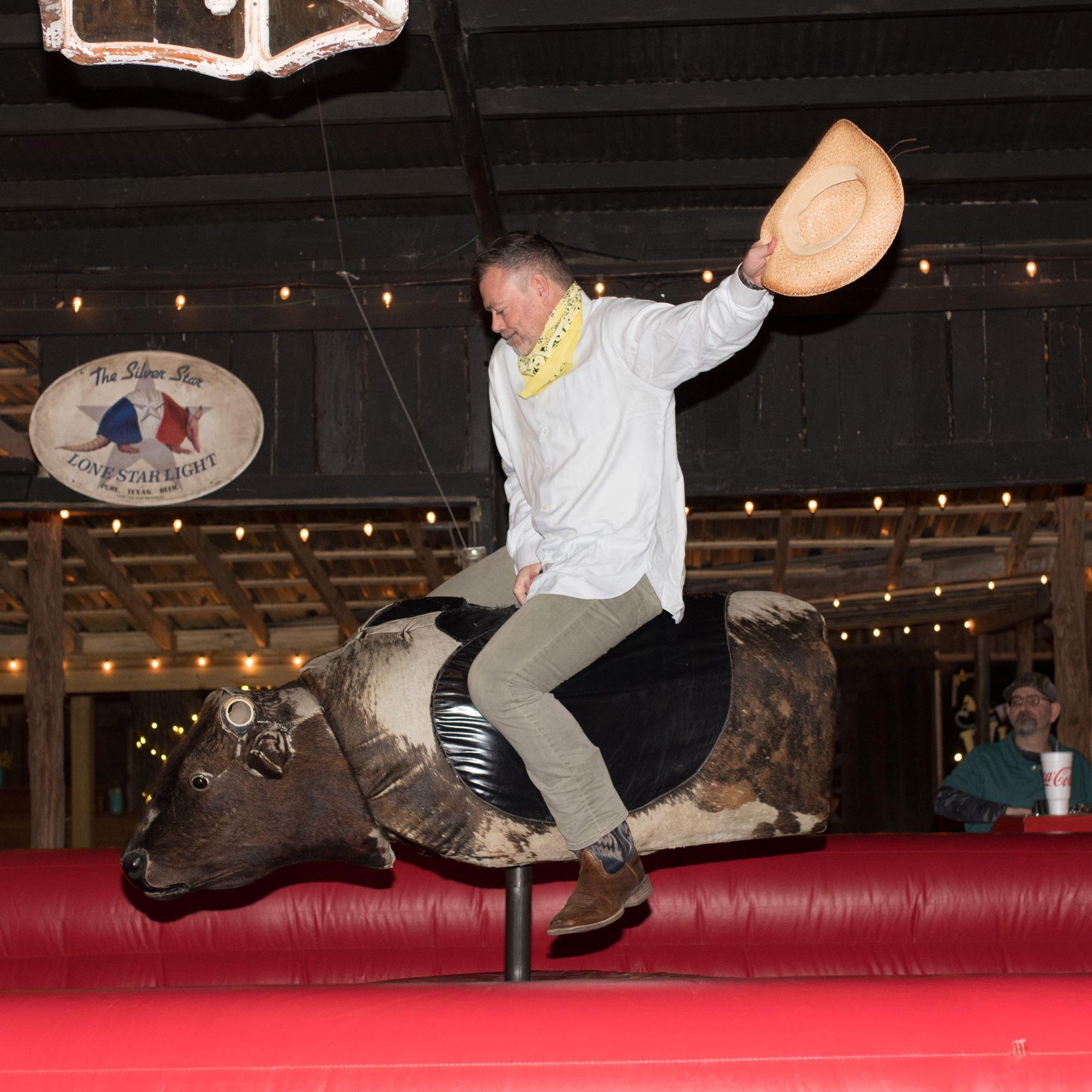 San Antonio Team Building Retreat Corporate Event Venue Mechanical Bull Ride