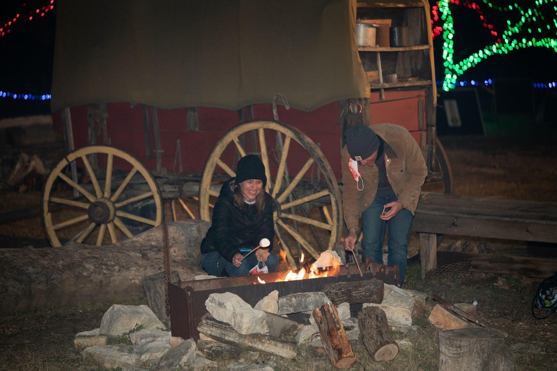 San Antonio Team Building Retreat Corporate Event Venue Campfires and Smores